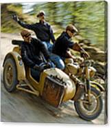 That's The Way To Ride An Army Bmw R75  Canvas Print