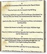 The 10 Commandments  For Pets  Antique Marble Canvas Print