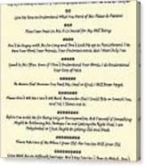 The 10 Commandments For Pets On Old Parchment Canvas Print