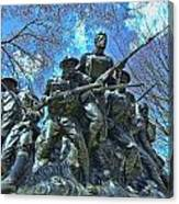 The 107th Infantry Memorial Sculpture Canvas Print