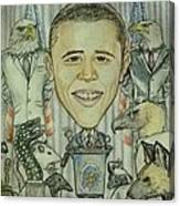 The 44th President And The Media Canvas Print