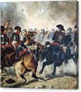 The 8th Napoleonic Cavalry Regiment Charging Into Battle  Canvas Print