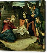 The Adoration Of The Shepherds, 1540s Canvas Print