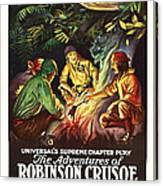 The Adventures Of Robinson Crusoe Canvas Print
