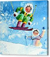 The Aerial Skier - 10 Canvas Print