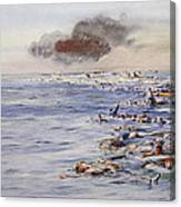 The Aftermath Of The Lusitania Canvas Print