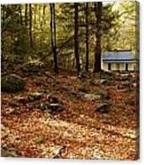 The Alfred Reagan Cabin Autumn Canvas Print