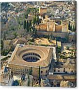 The Alhambra Aerial Canvas Print