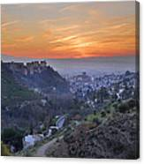 The Alhambra And Granada At Sunset Canvas Print