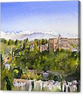 The Alhambra Granada Canvas Print