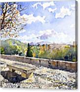 The Alhambra In Autumn Canvas Print