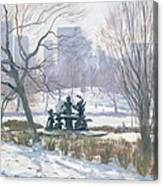 The Alice In Wonderland Statue, Central Park, New York Canvas Print