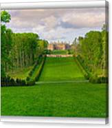 The Allee And The Castle Canvas Print