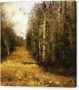 The Allee At Dawn Canvas Print