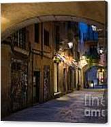 The Alley- In Beautiful Barcelona Canvas Print