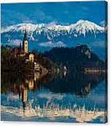 The Alps Bled Canvas Print