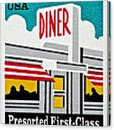 The American Diner  Canvas Print