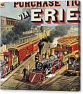The American Railway Scene  Canvas Print