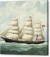 The American Ship Olive S Southard Of San Francisco In French Waters Off Le Havre Canvas Print