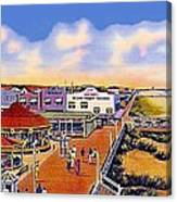 The Amusement Area At Myrtle Beach S C Around 1940 Canvas Print