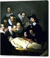 The Anatomy Lesson Canvas Print