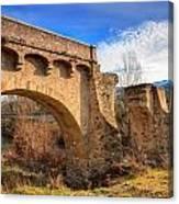 The Ancient Bridge At Ponte Novu In Corsica Canvas Print