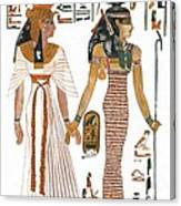 The Ancient Egyptian Goddess Isis Leading Queen Nefertari Canvas Print