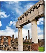 The Ancient Ruins Of Pompeii, Italy Canvas Print