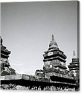The Ancient Stupas Of Borobudur Canvas Print