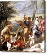 The Andrians A Free Copy After Titian Canvas Print