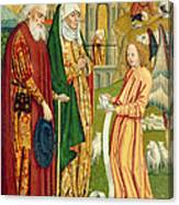 The Annunciation To Joachim And Anne, From The Dome Altar, 1499 Canvas Print
