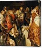 The Anointment Of David Canvas Print