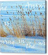 The Answer Is Blowing In The Wind Canvas Print