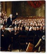 The Anti-slavery Society Convention 1840 Canvas Print
