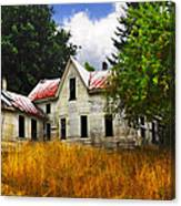 The Apple Tree On The Hill Canvas Print