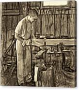 The Apprentice - Paint Sepia Canvas Print