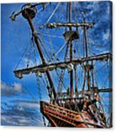 The Approaching Storm - Spanish Galleon Canvas Print