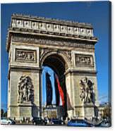The Arc De Triomphe De Etoile  Canvas Print