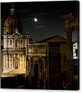 The Arch Of Septimius Severus Canvas Print