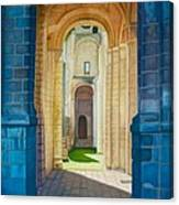 The Arches Of The Abbey At Jumieges Canvas Print