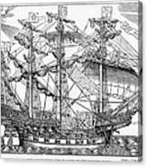 The Ark Raleigh The Flagship Of The English Fleet From Leisure Hour Canvas Print