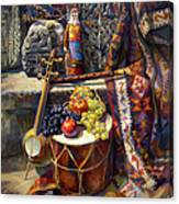 The Armenian Still-life With A Armenian Doll Canvas Print