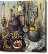 The Armenian Still-life With Culture Subjects Canvas Print