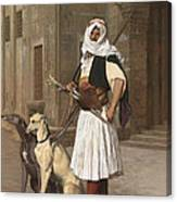 The Arnaut With Two Whippets Canvas Print