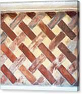 The Art Of Brick Weaving  Canvas Print