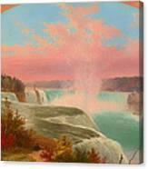 The Artist At Niagara Canvas Print