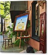 The Artist's Dog Canvas Print