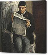 The Artists Father Reading L Evenement Canvas Print