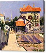 The Artists House At Yerres Canvas Print