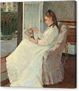 The Artist's Sister At A Window Canvas Print